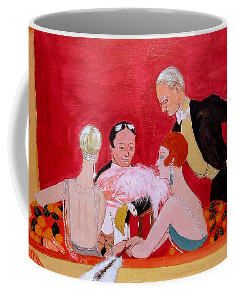 French Art Deco Coffee Mug featuring the painting L'epoque de Jazz by Rusty Gladdish