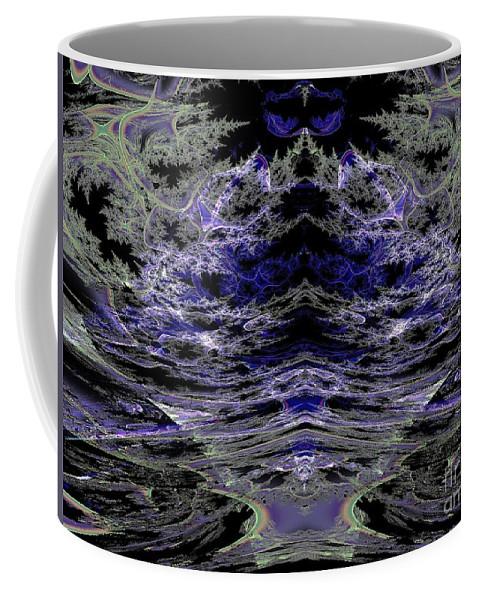 Fractal Coffee Mug featuring the digital art Les Ombres De La Nuit by Dominique Favre