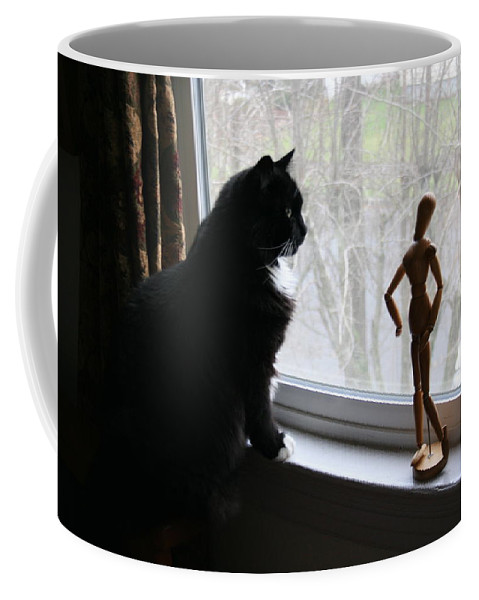 Cat Coffee Mug featuring the photograph Lesson In Perspective by Quin Sweetman