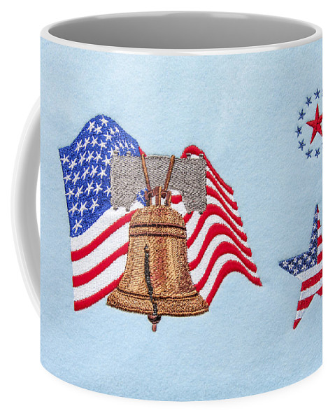 Patriotic Machine Embroidery Wall Hanging Coffee Mug featuring the photograph Let Freedom Ring by Sally Weigand