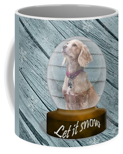Globe Coffee Mug featuring the photograph Let It Snow by Terri Waters