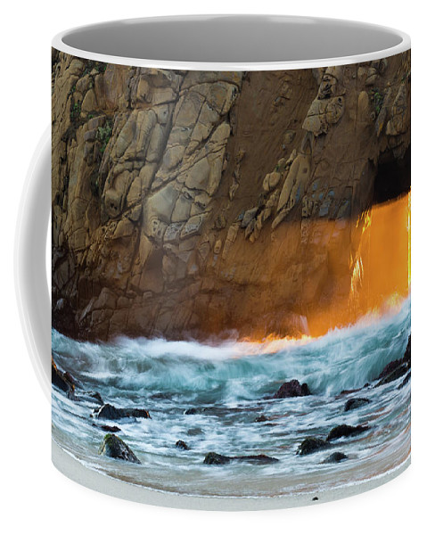 Pfeiffer Keyhole Coffee Mug featuring the photograph Let The Light Flow by Tran Boelsterli