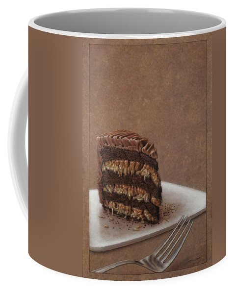 Chocolate Coffee Mug featuring the painting Let Us Eat Cake by James W Johnson