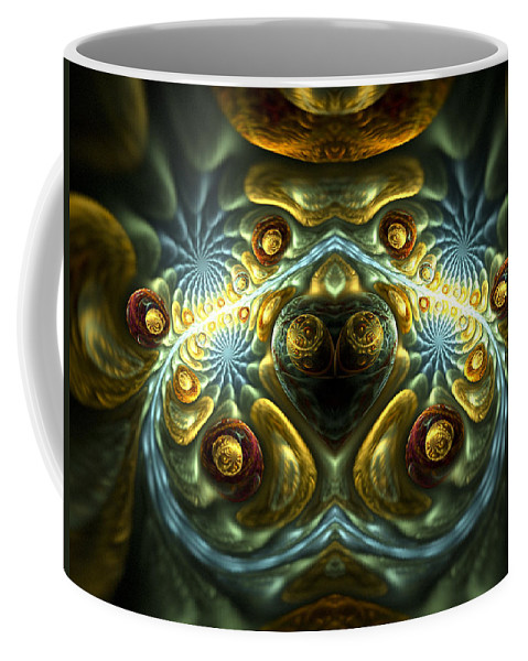 Fractal Coffee Mug featuring the digital art Let Your Feelings Flow by Amorina Ashton