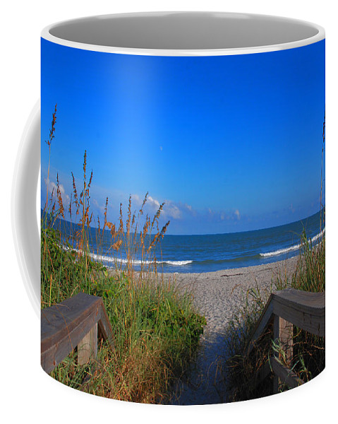 Cocoa Beach Coffee Mug featuring the photograph Lets Go To The Beach by Susanne Van Hulst