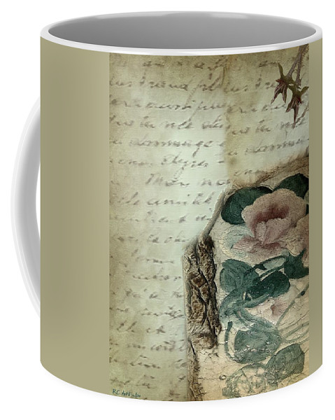 Antique Coffee Mug featuring the painting Letter From India by RC DeWinter