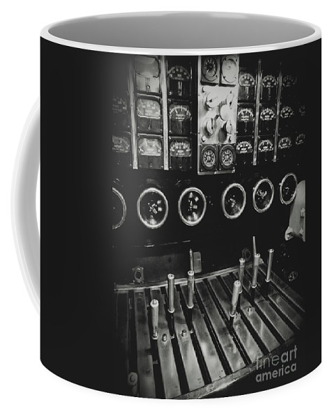 Uss Drum Coffee Mug featuring the photograph Levers And Gauges by John W Smith III
