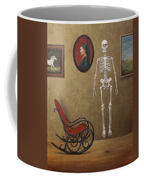 Paintings Coffee Mug featuring the painting Levitation by Szabo Gyula