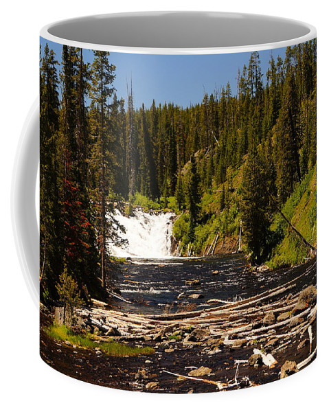 Lewis Falls Coffee Mug featuring the photograph Lewis Falls by Beth Collins