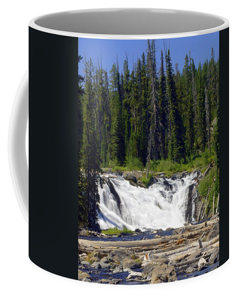 Lewis Falls Coffee Mug featuring the photograph Lewis Falls by Marty Koch