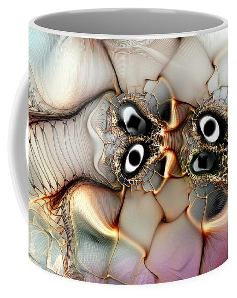 Abstract Coffee Mug featuring the digital art Lexicon Of The Visionary by Casey Kotas