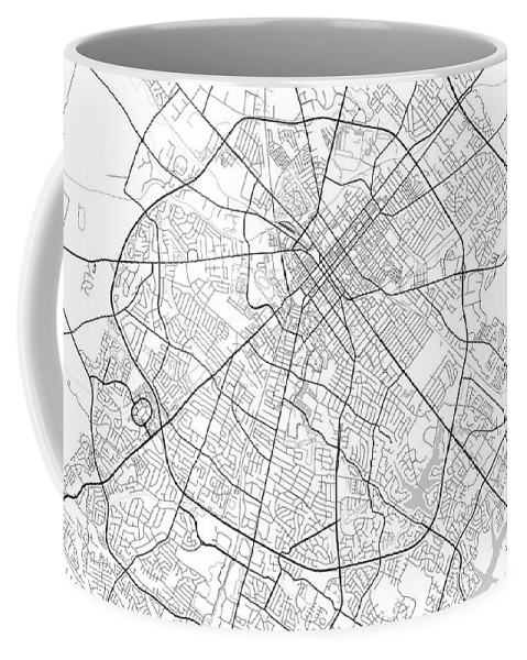 Road Map Coffee Mug featuring the digital art Lexington Kentucky Usa Light Map by Jurq Studio