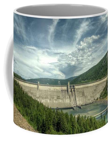 Landscape Coffee Mug featuring the photograph Libby Dam by Constance Puttkemery