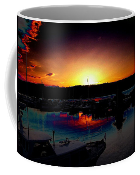 Sunset Coffee Mug featuring the photograph Liberty Bay Sunset by Tim Allen