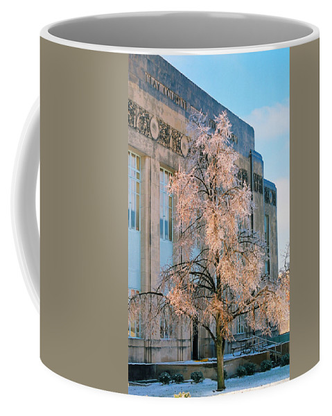 Architecture Coffee Mug featuring the photograph Liberty Court House by Steve Karol