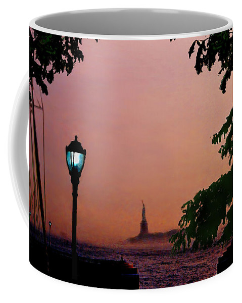 Seascape Coffee Mug featuring the digital art Liberty Fading Seascape by Steve Karol