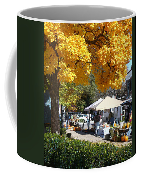 Fall Coffee Mug featuring the photograph Liberty Farmers Market by Steve Karol