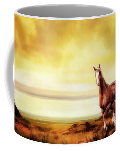 Horse Coffee Mug featuring the digital art Liberty by John Edwards