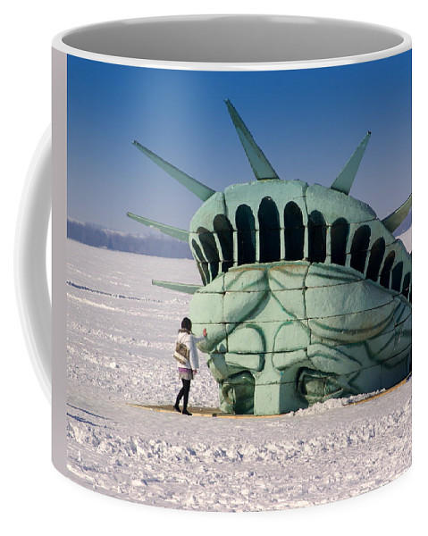 Statue Of Liberty Coffee Mug featuring the photograph Liberty by Linda Mishler