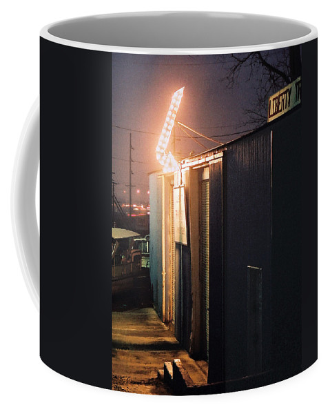 Night Scene Coffee Mug featuring the photograph Liberty by Steve Karol