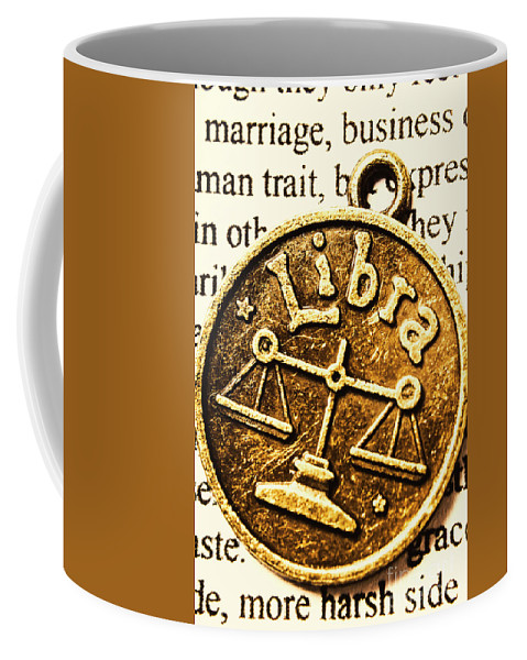 Sign Coffee Mug featuring the photograph Libra Star Sign by Jorgo Photography - Wall Art Gallery