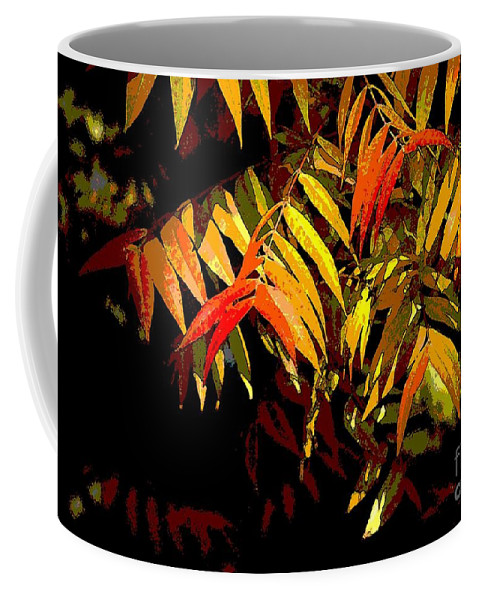 Digital Photographic Art Coffee Mug featuring the photograph Library Leaves by Norman Andrus
