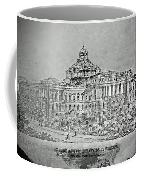 Library Coffee Mug featuring the photograph Library Of Congress Proposal 3 by Jost Houk