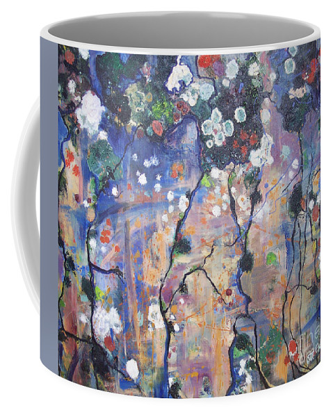 Lichen Paintings Coffee Mug featuring the painting Lichen by Seon-Jeong Kim