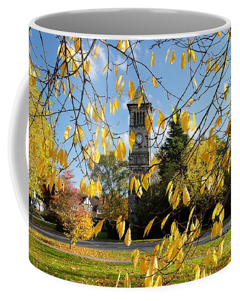 Lichfield Coffee Mug featuring the photograph Lichfield Clock Tower by John Chatterley