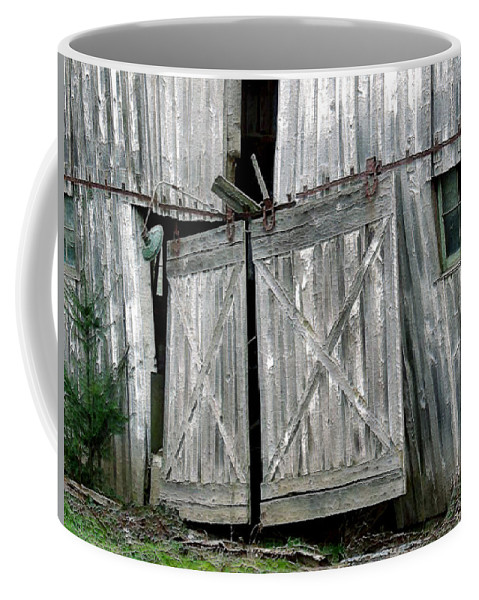 Barn Coffee Mug featuring the digital art Life Among The Ruins by RC DeWinter