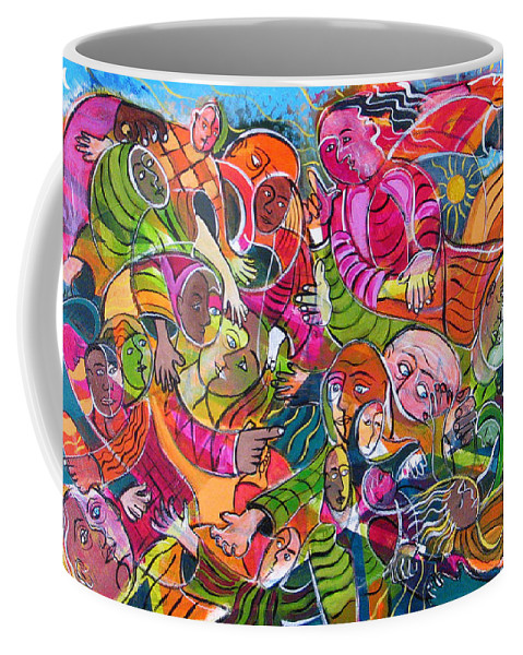 Life Coffee Mug featuring the painting Life And Death by Rollin Kocsis