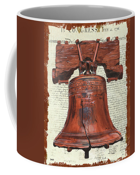 Bell Coffee Mug featuring the painting Life And Liberty by Debbie DeWitt