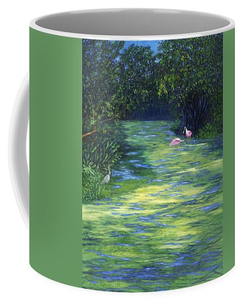Karen Zuk Rosenblatt Art And Photography Landscape Coffee Mug featuring the painting Life at the Refuge by Karen Zuk Rosenblatt