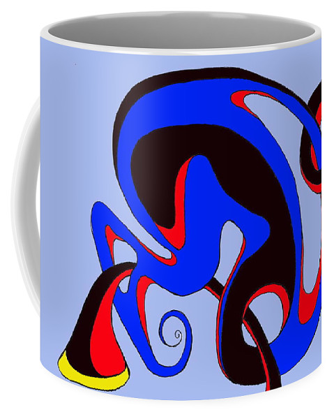 \ Coffee Mug featuring the digital art Life Circuits by Helmut Rottler