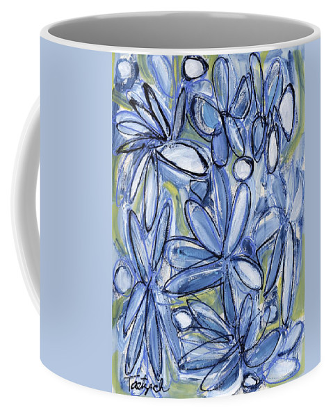Floral Coffee Mug featuring the painting Life Form One by Lynne Taetzsch