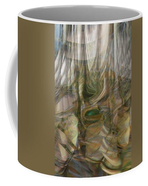 Abstract Art Coffee Mug featuring the digital art Life Forms by Linda Sannuti