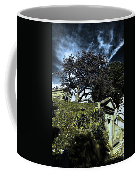 Cemetery Coffee Mug featuring the photograph Life From Death by Scott Wyatt