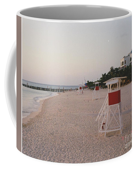 Water Coffee Mug featuring the photograph Life Guard 3 D by Michelle Powell