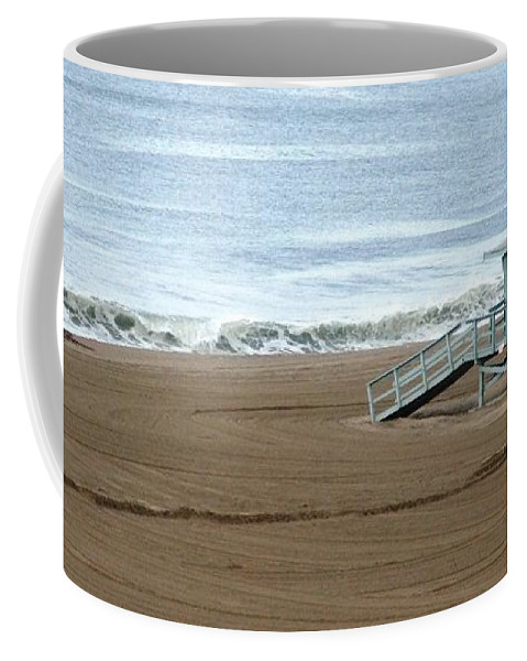 Beach Coffee Mug featuring the photograph Life Guard Stand - Color by Shari Chavira