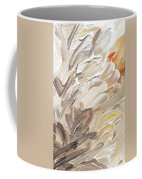 Abstract Coffee Mug featuring the painting Life Imagined by Linda Mears