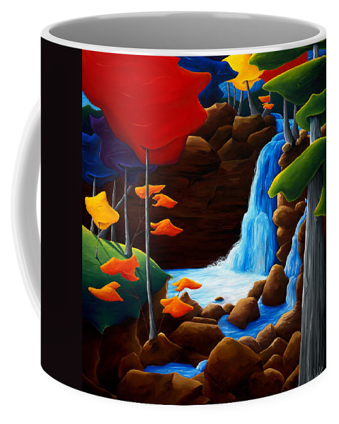 Landscape Coffee Mug featuring the painting Life In Progress by Richard Hoedl