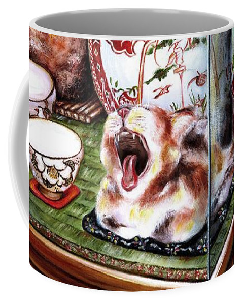 Cat Coffee Mug featuring the painting Life Is Beautiful by Hiroko Sakai