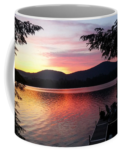 Lake Sunrise Coffee Mug featuring the photograph Life Is Good by Karen Velsor