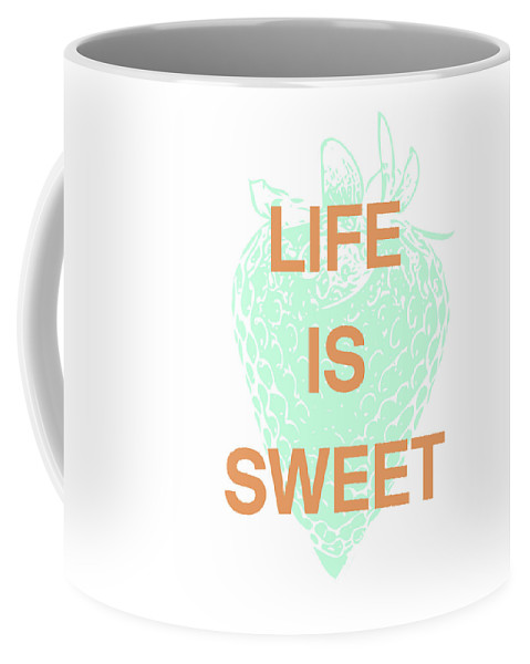 Strawberry Coffee Mug featuring the digital art Life Is Sweet- Art By Linda Woods by Linda Woods