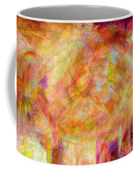 Abstracts Coffee Mug featuring the digital art Life by Linda Sannuti