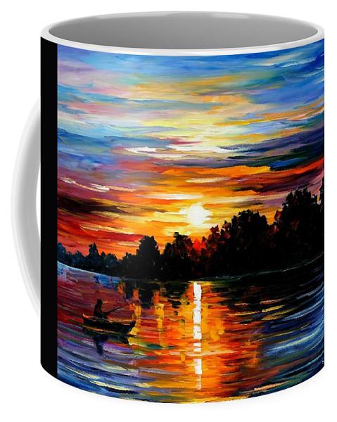 Afremov Coffee Mug featuring the painting Life Memories by Leonid Afremov