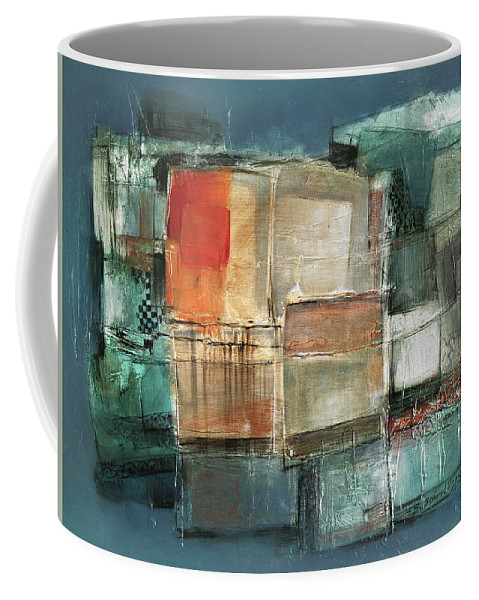 Sketching Coffee Mug featuring the painting Patterns by Behzad Sohrabi