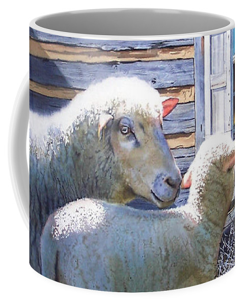 Sheep Coffee Mug featuring the painting Life Renewed by Denny Bond