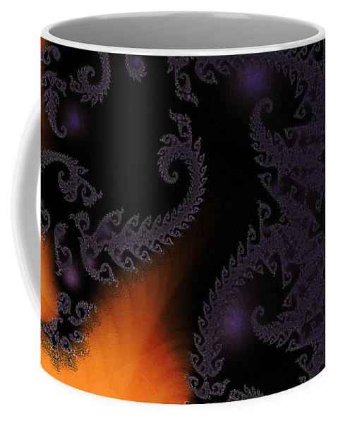 Clay Coffee Mug featuring the digital art Life Under Glass by Clayton Bruster