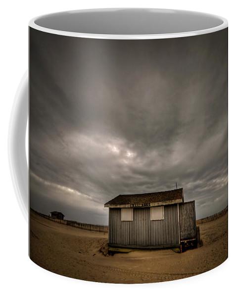 Beach Coffee Mug featuring the photograph Lifeguard Shack by Evelina Kremsdorf
